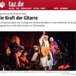 2017-06-13 taz: Wüstenrock mit Berliner Note - die Kraft der Gitarre