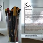 K22 Projektraum / project space Blo-Ateliers Berlin flyer