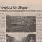 Lnadeplatz für Utopien - die BLO-Ateliers in der taz, Januar 2009