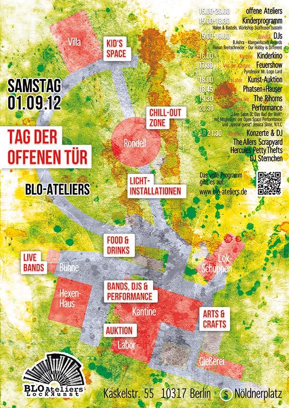 Blo-Ateliers Tag der offenen Tür 2012, Plakat/Flyer