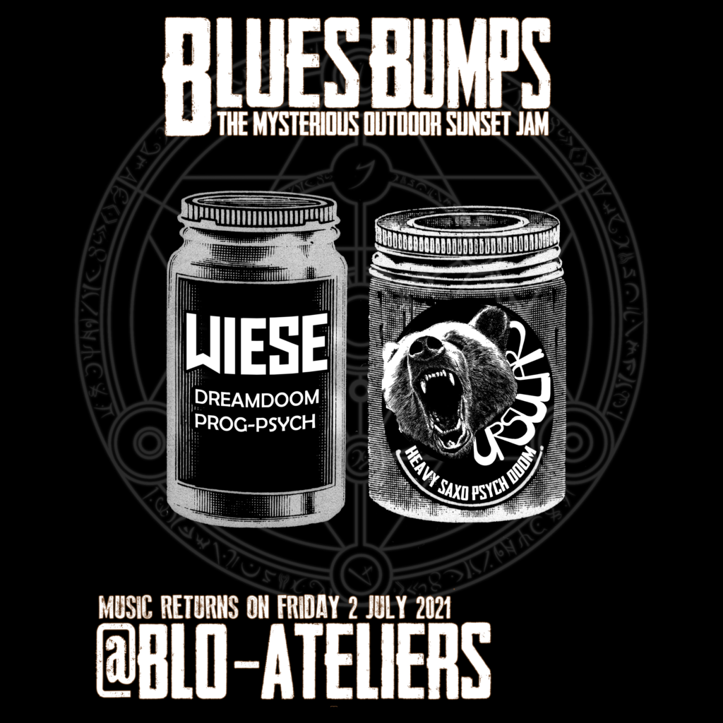 Blues Bumps Poisons Concert at Blo-Ateliers in Berlin on July 2nd 2021 - small flyer