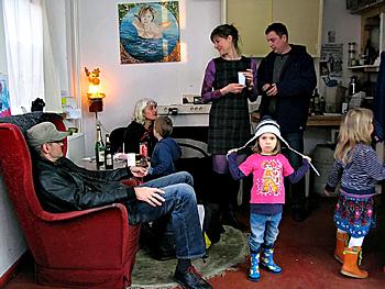 Tag der offenen Tür in den BLO-Ateliers 2008, im Atelier von Almut Müller