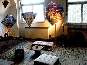 Tag der offenen Tür in den BLO-Ateliers 2008, im Atelier von Jens Schlathölter