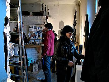Tag der offenen Tür 2009 in den BLO-Ateliers, im Künstler-Atelier