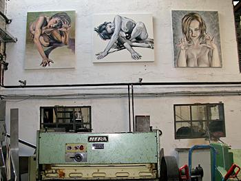Tag der offenen Tür 2009 in den BLO-Ateliers, im Künstler-Atelier 2