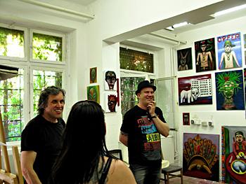 Tag der offenen Tür 2009 in den BLO-Ateliers, Künstler-Atelier 4